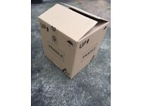 Packing storage cardboard boxes in various sizes