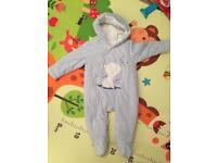 Mothercare baby snowsuit 3-6 month