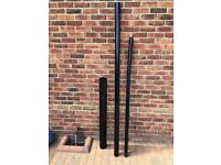 50mm x 1.68m Downpipe Black