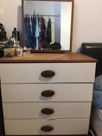 60s retro chest of drawers with mirror