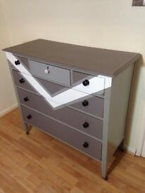 Hand Painted Chest Of Drawers Retro Shabby