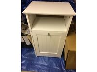 Small white bathroom cabinet