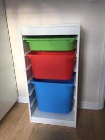 Ikea Storage unit Shelves ideal for kids bedroom play room.