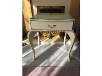 Bedside table or side table in French Louis style