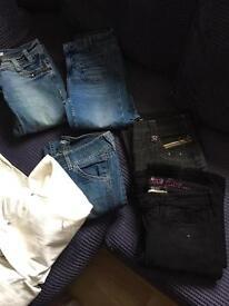 Bundle of ladies jeans