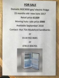 Dometic RGE3000 gas/electric fridge freezer. NEW June 2017
