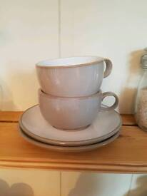2 X Marks and Spencers 'hamilton' cups and saucers