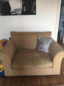 3 seater and love chair