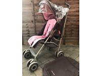 Maclaren Pushchair Pink/Brown