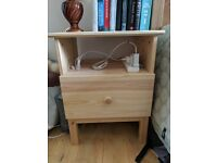 Two TARVA Bedside Tables, solid wood