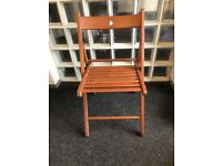 Wooden folding chairs x 6