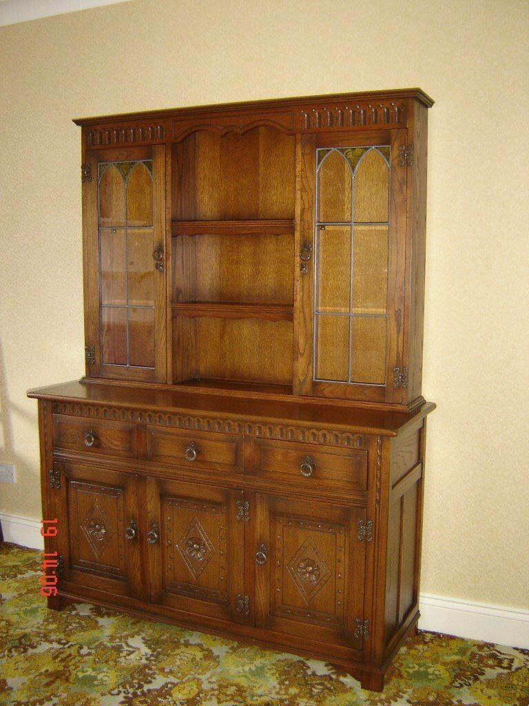 DINING ROOM DRESSER DISPLAY CABINET BY MELLOWCRAFT