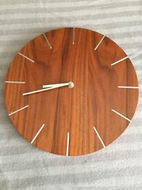Clock wooden effect