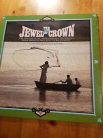 Two Chrysalis vinyl records: The Jewel in the Crown and Brideshead Revisited