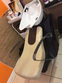 Salon/Hairdressers backwash unit