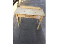 Pine Rustic Console Table / Desk