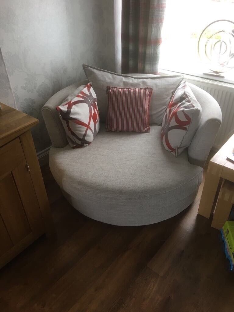 Swivel chair and 4 seater