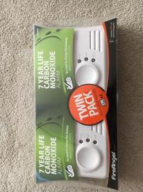 Carbon monoxide alarm - twin pack BNIB