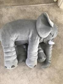 Elephant pillow soft toy