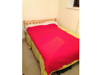 Strictly Double bed in pine