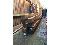 Wooden fence posts