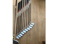 Taylormade LEFT HANDED R11 Graphte iron set & R15 10.5 graphite driver