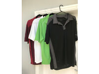 4 golf shirts (chest size 40-42 inches) (High Lane SK6)