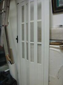 Folding White PVC Door
