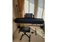 YAMAHA P-45 Digital Piano - Portable sold with X-keyboard stand, piano stool and cover