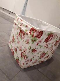 Beautiful floral sorting/storing box and matching shelves