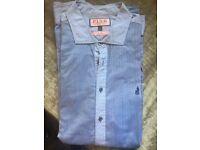 Thomas Pink Men's casual blue shirt