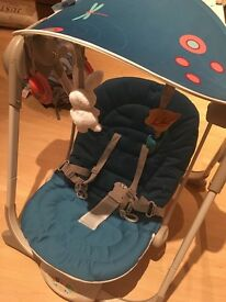 Chicco poly baby swing with newborn insert and detachable canopy