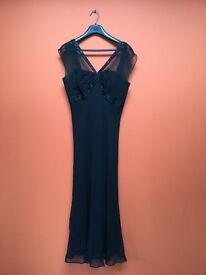Anne Klein black 3/4 length cocktail dress