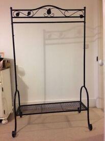 Black clothes rails