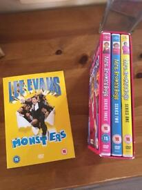 Mrs Brown boys and lee Evans £5 for all of them DVD's never watched,