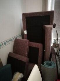 Brown L Shaped Corner Sofa