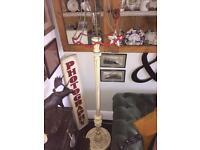 Vintage carved standard lamp