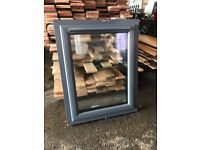 Contemporary grey wood effect PVC window