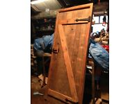 Internal pitch pine door and frame.
