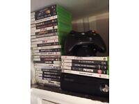 Xbox 360 250gb plus 32 games