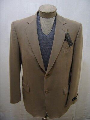 Nicklaus Men's Wool Sport Coat Blazer Water Repellent Suit Jacket Brown Tan 40 R