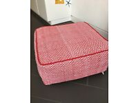 Habitat Pouffe / Footstool Durrie - red /white