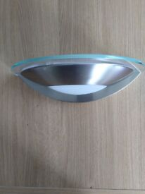 Glass/chrome wall light
