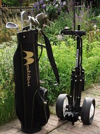 Golf Bag, Clubs and Trolley
