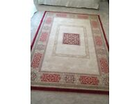 Rug for sale in excellent condition, wine and cream traditional pattern
