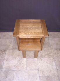 Solid Oak Wood Nest of 2 Coffee Side End Tables Living Room Furniture