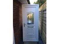 White Rehau PVCu front door