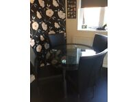 Harveys dining table and chairs