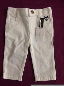 white jeans 12-18 mon
