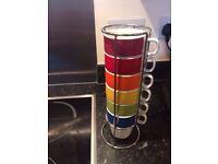 Rainbow Kitchen Mugs - Hardly Used - £5
